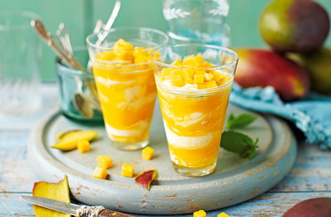 This quick and healthy pud is made using fresh mangoes and Greek yoghurt.