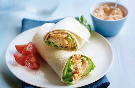 Marinated chicken wrap THUMB
