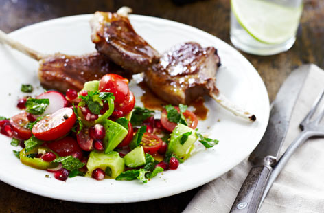 Mexican citrussytomatosaladwithradishpomegranate Th