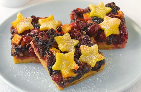 Mincemeat and marzipan slices