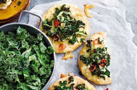 These kale, gouda and chilli pizzas really pack a punch and will be popular with adults and kids alike