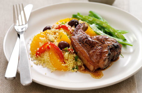 Moroccan lamb chops with couscous | Tesco Real Food