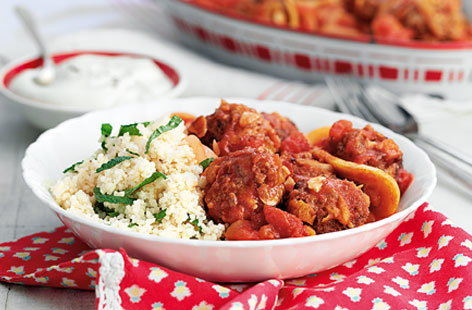 Moroccan meatballs with mint couscous THUMB