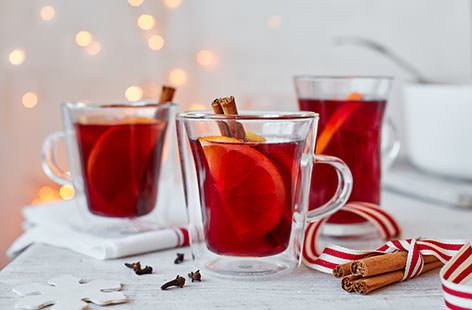 There is nothing like arriving at a party and being handed a glass of mulled wine: surely Christmas in a glass. This classic hot drink includes gently heated wine and port of course, but also citrus fruit, and spices including cinnamon and cloves.