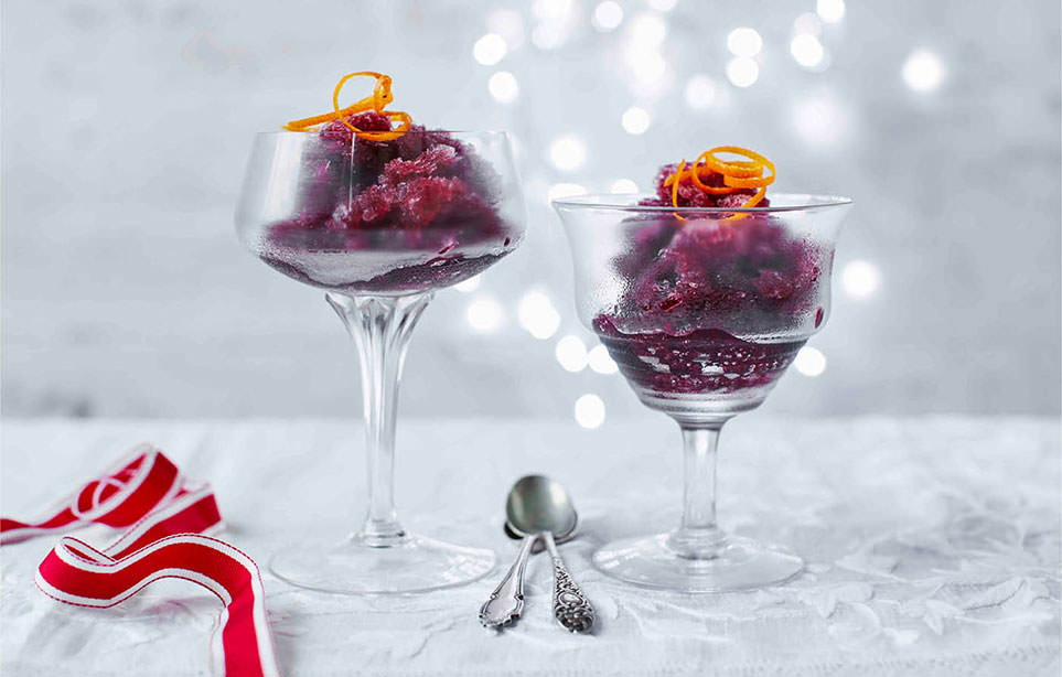 How to make mulled wine granita