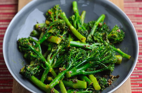 Tenderstem broccoli with shallot vinaigrette | Tesco Real Food