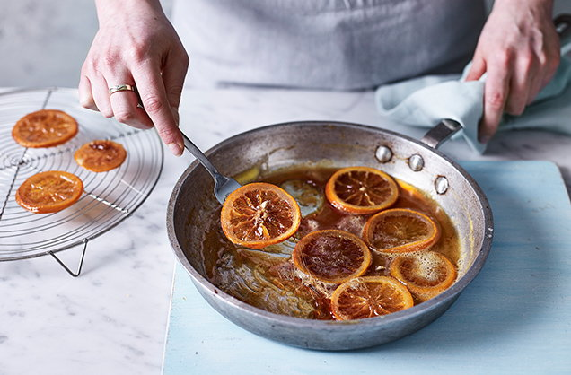 Make the candied oranges