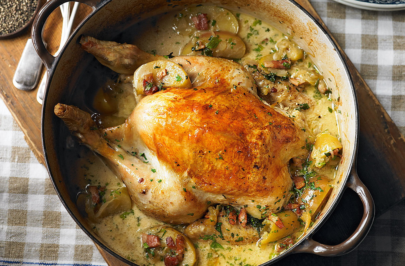 normandy pot roast chicken with apples tesco real food