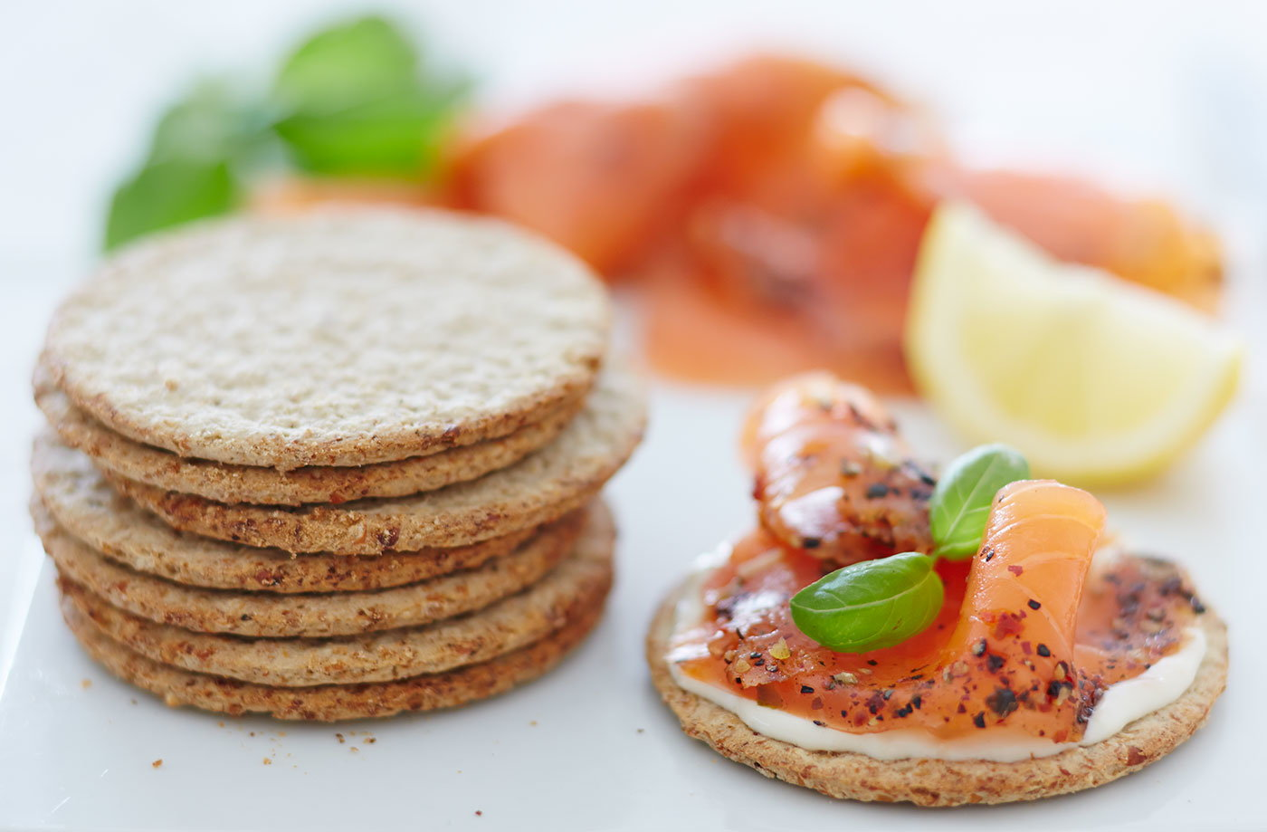 Oatcakes with smoked salmon recipe