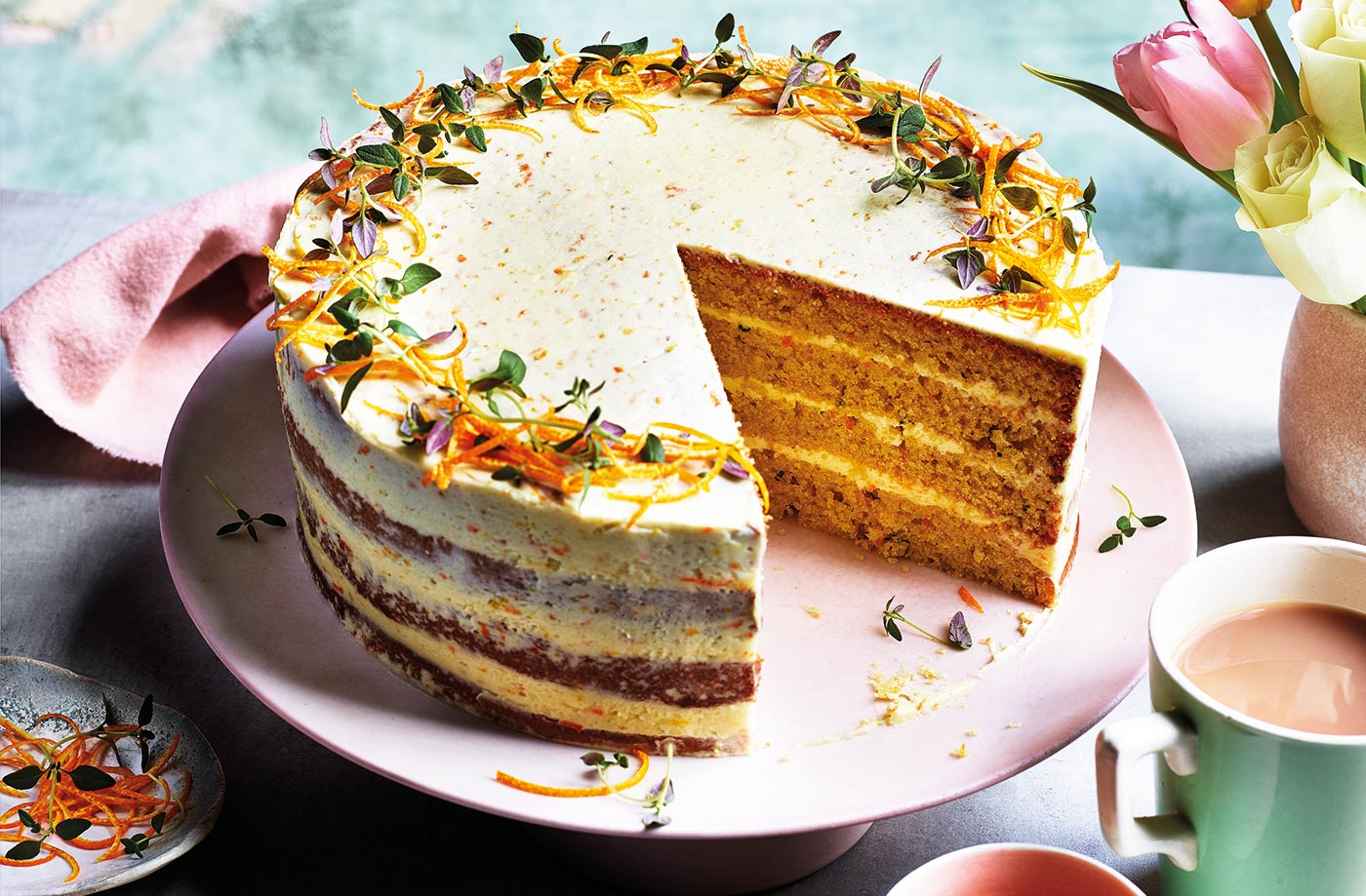 Orange, olive oil and thyme cake recipe