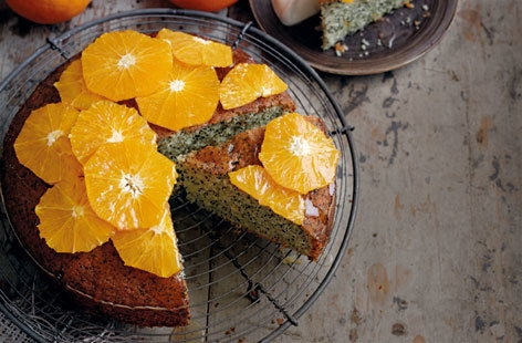 Using Sevilles gives this cake a deliciously tangy edge, but ordinary oranges will do just as well (the taste will be sweeter).