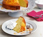 Orange and honey coconut cake with coconut cream