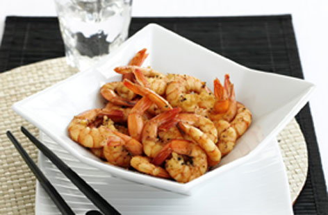 PEPPERY SOY SAUCE PRAWNS no pack (h)