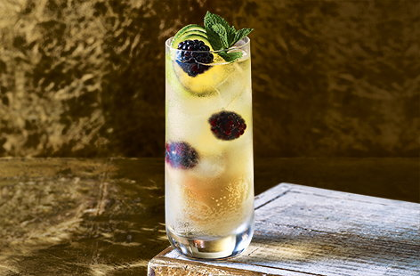 This white port and tonic could be your new favourite cocktail. It has a gorgeous mix of flavours – sweet blackberries, zingy lime and fresh mint – and is a great one to serve at Christmas. Cheers!