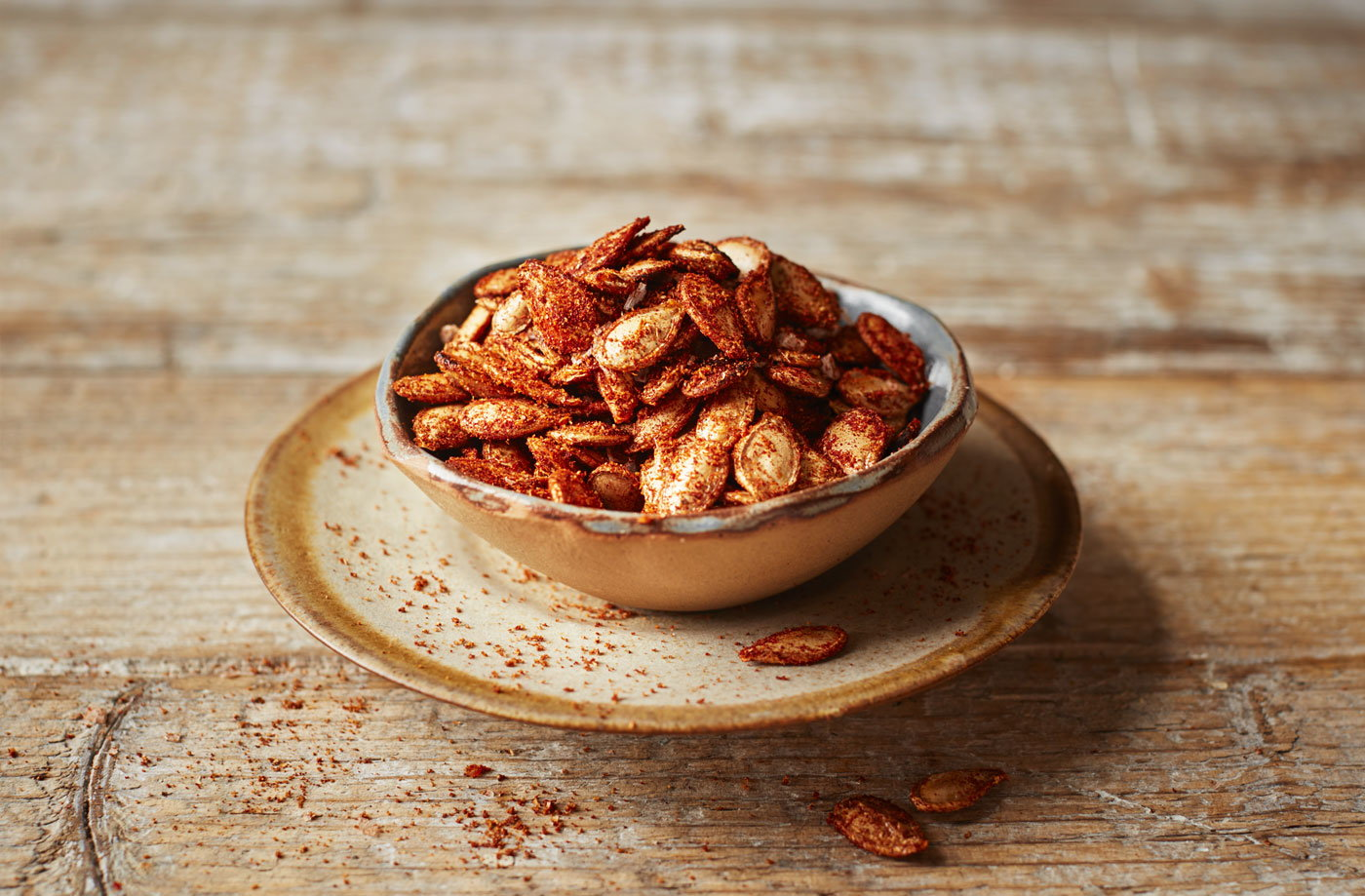 Spiced pumpkin seeds