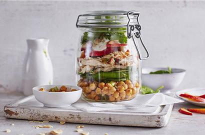 From salads in jars to chunky frittatas, we've got plenty of ideas for livening up your weekday lunches