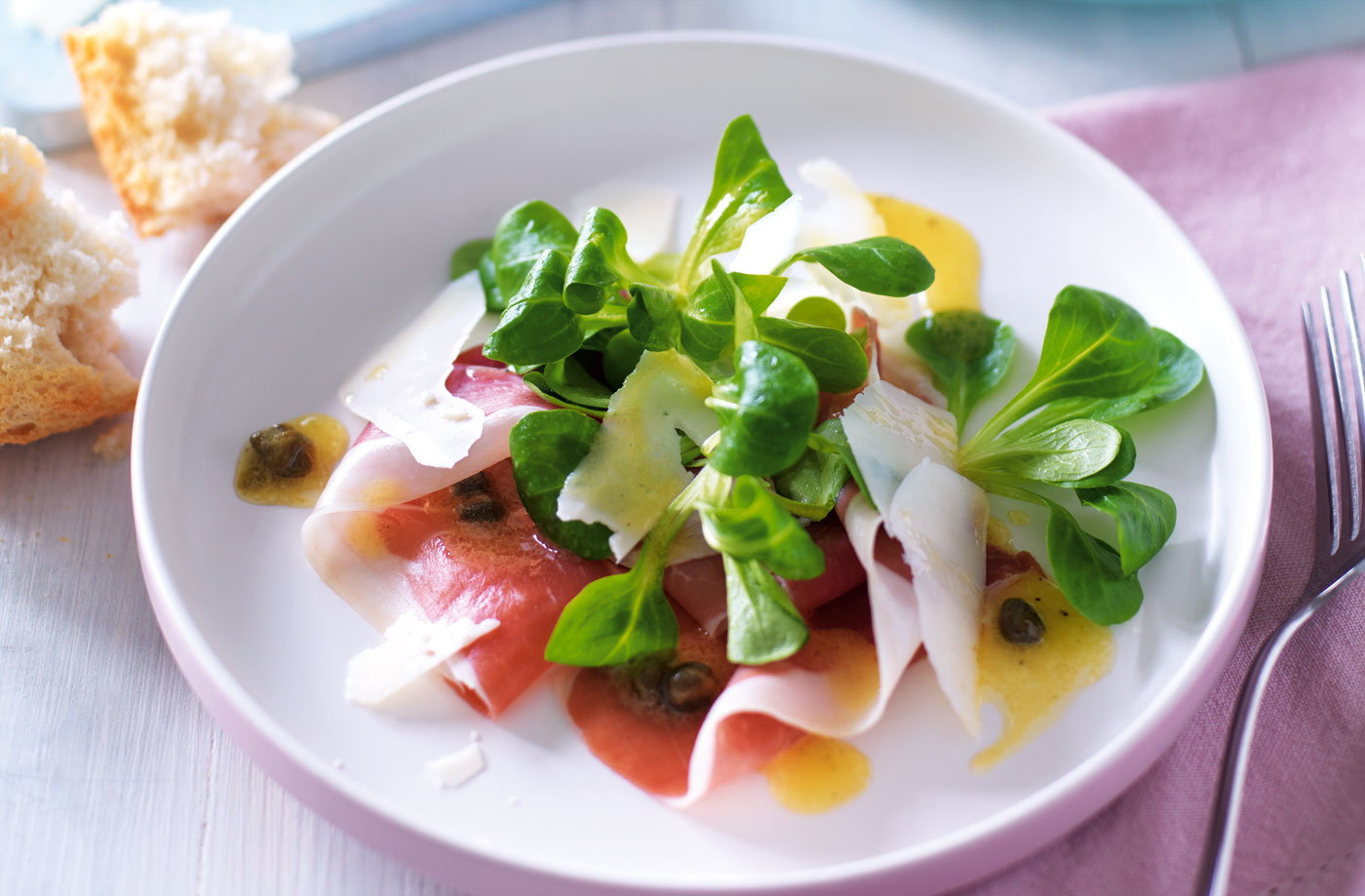 Parma ham and lamb's lettuce recipe