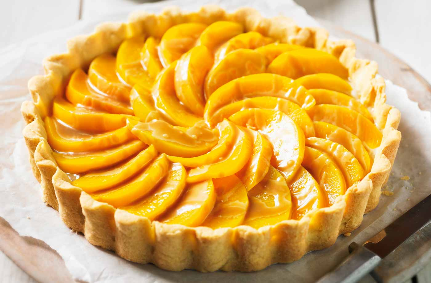 peach caramel tart tesco real food