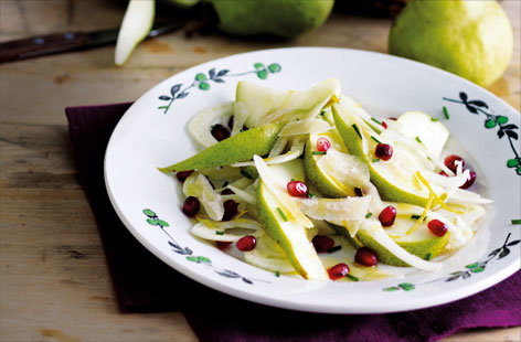 Pear fennel and pomegranate salad (H)