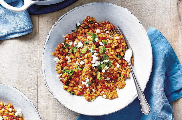 Thursday: Pearl barley and tomato risotto