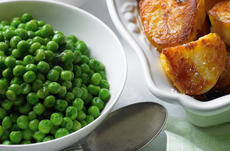 Peas with mint and butter HERO