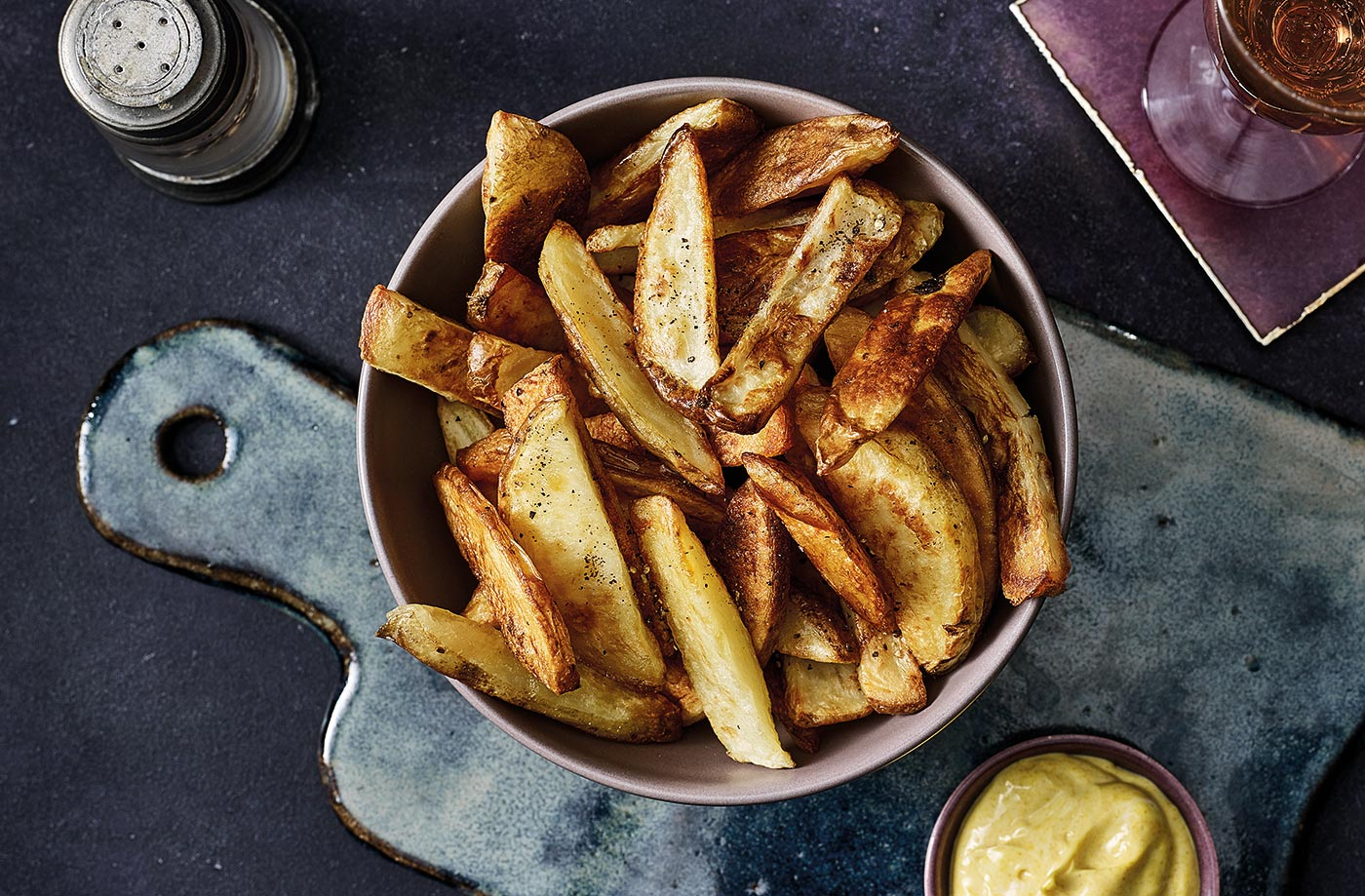 Perfect chips with golden mayonnaise recipe