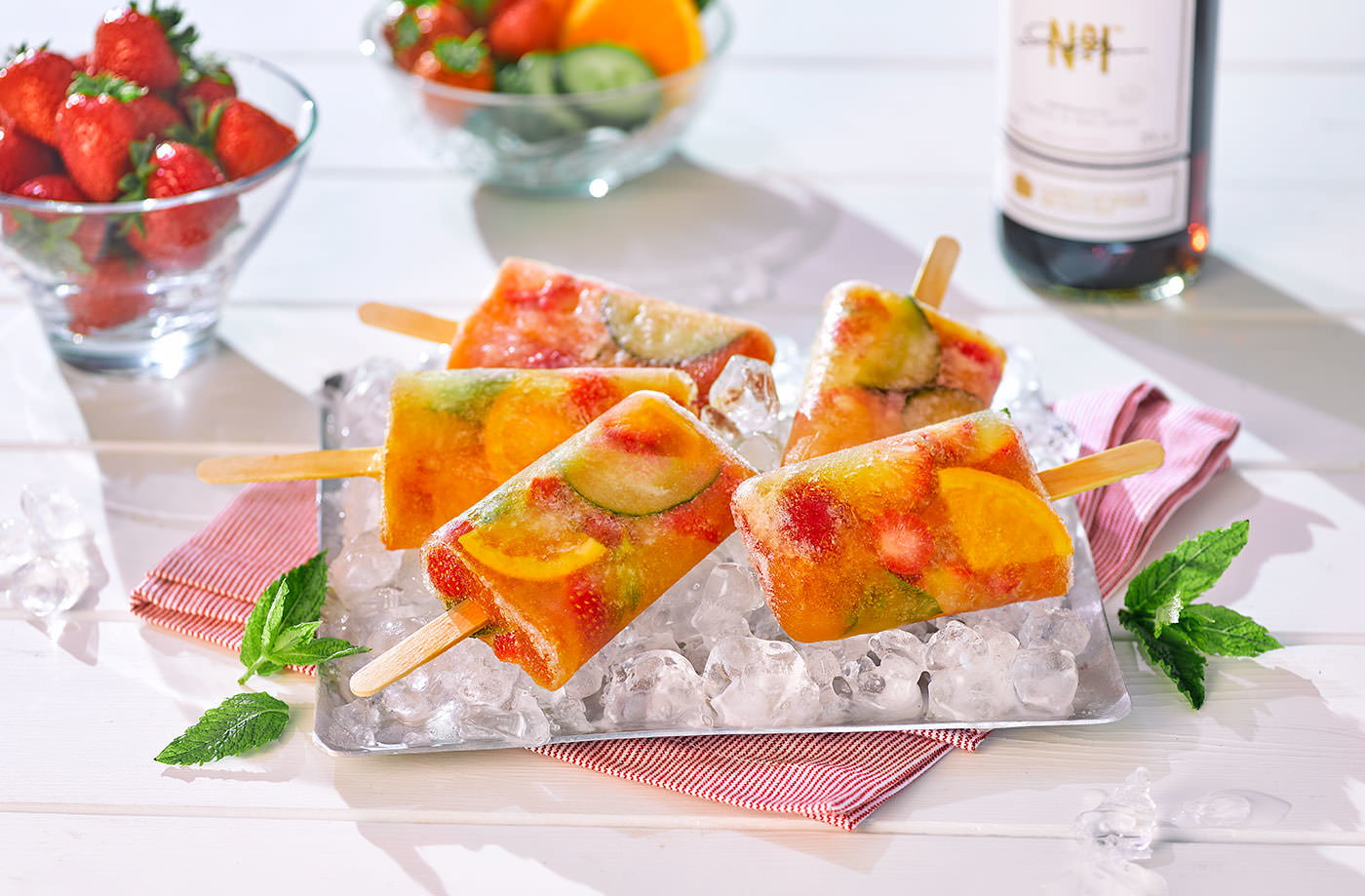 Pimm's ice lollies