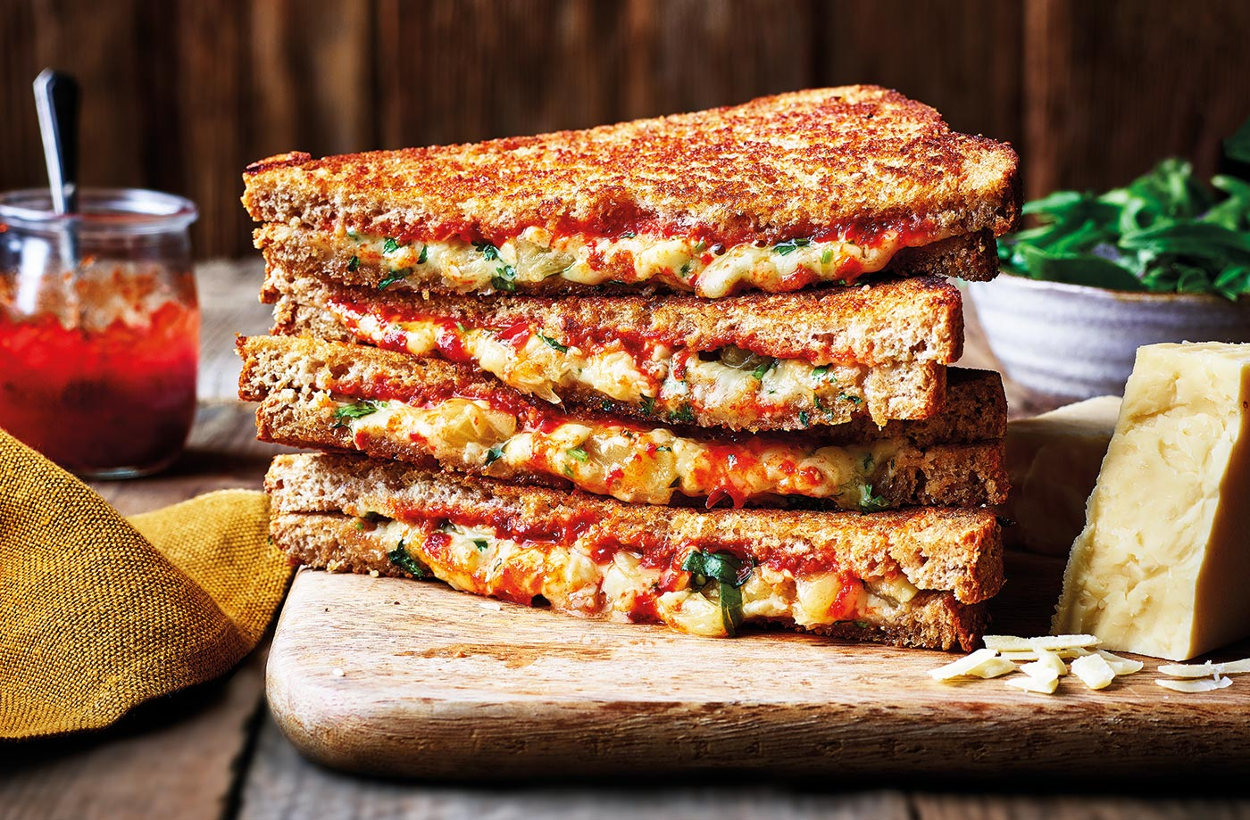 Pineapple, chilli and cheese toasties recipe