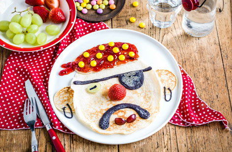 Pirate pancake face