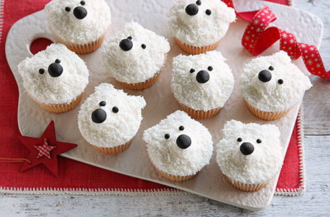 Polar Bear Cupcakes Tesco Real Food