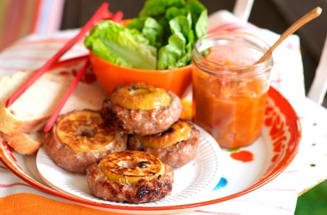 BBQ pork and apple burgers | Tesco Real Food