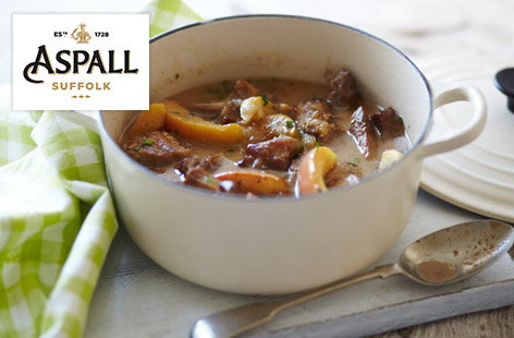 Pork stew with apples
