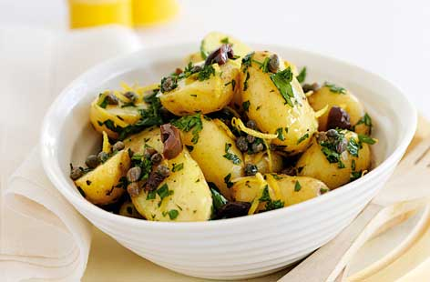 Potato salad with lemon capers olives thumb