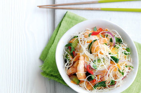 Prawn and asian noodle salad HERO