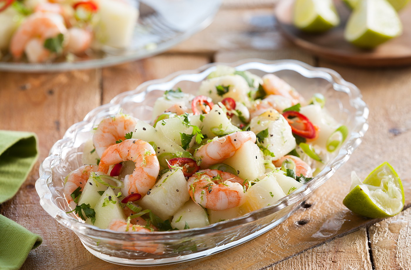 Melon and Prawn Starter Recipe
