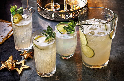 Try a prosecco twist on a classic Moscow mule with this easy festive cocktail recipe