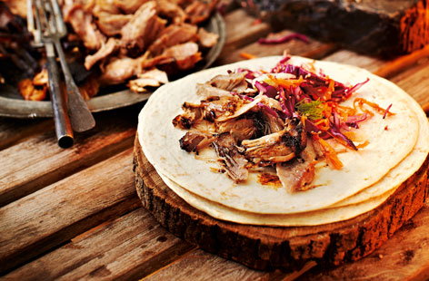 Pulled pork wraps (T)