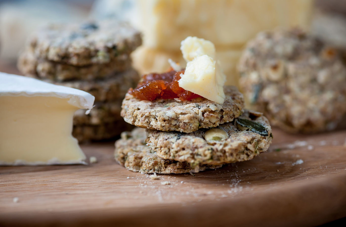 Marcus Wareing's pumpkin seed and thyme oatcakes  recipe