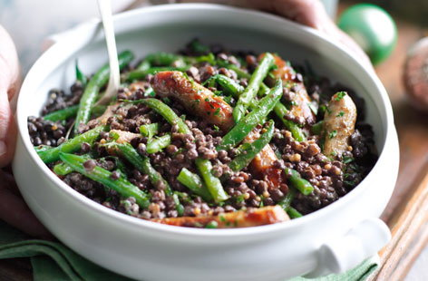 A bright, refreshing combination of lentils and green beans perfect for Boxing Day