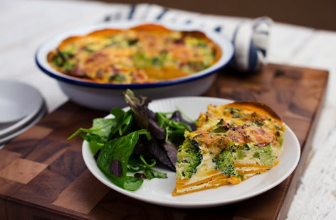 Simple sweet potato quiche