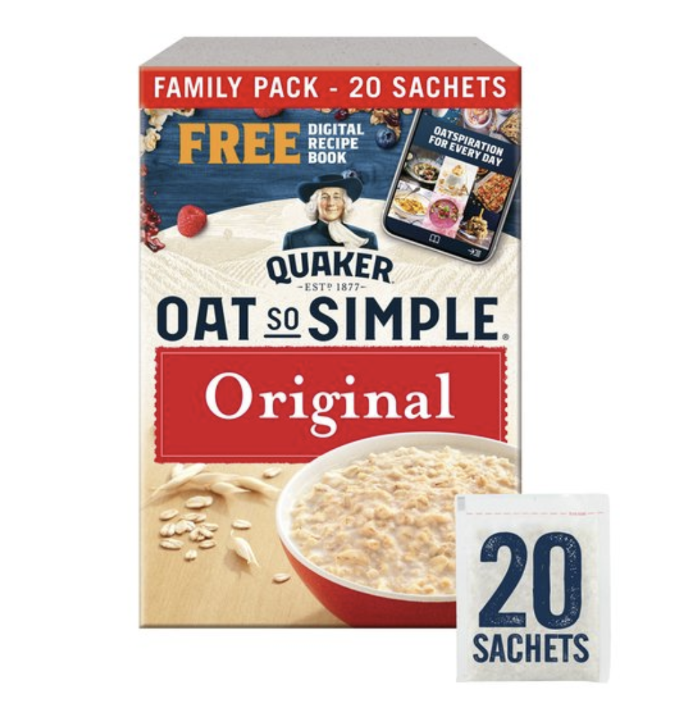 Quaker Oat So Simple Original Porridge Sachets