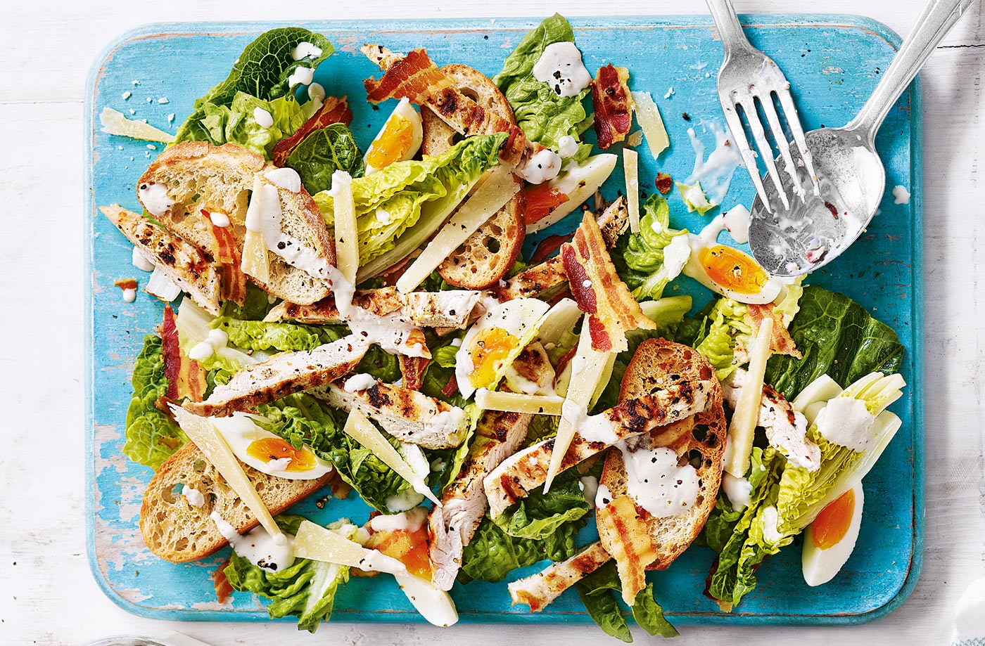 Lighter Chicken Caesar Salad Caesar Salad Recipe Tesco Real Food