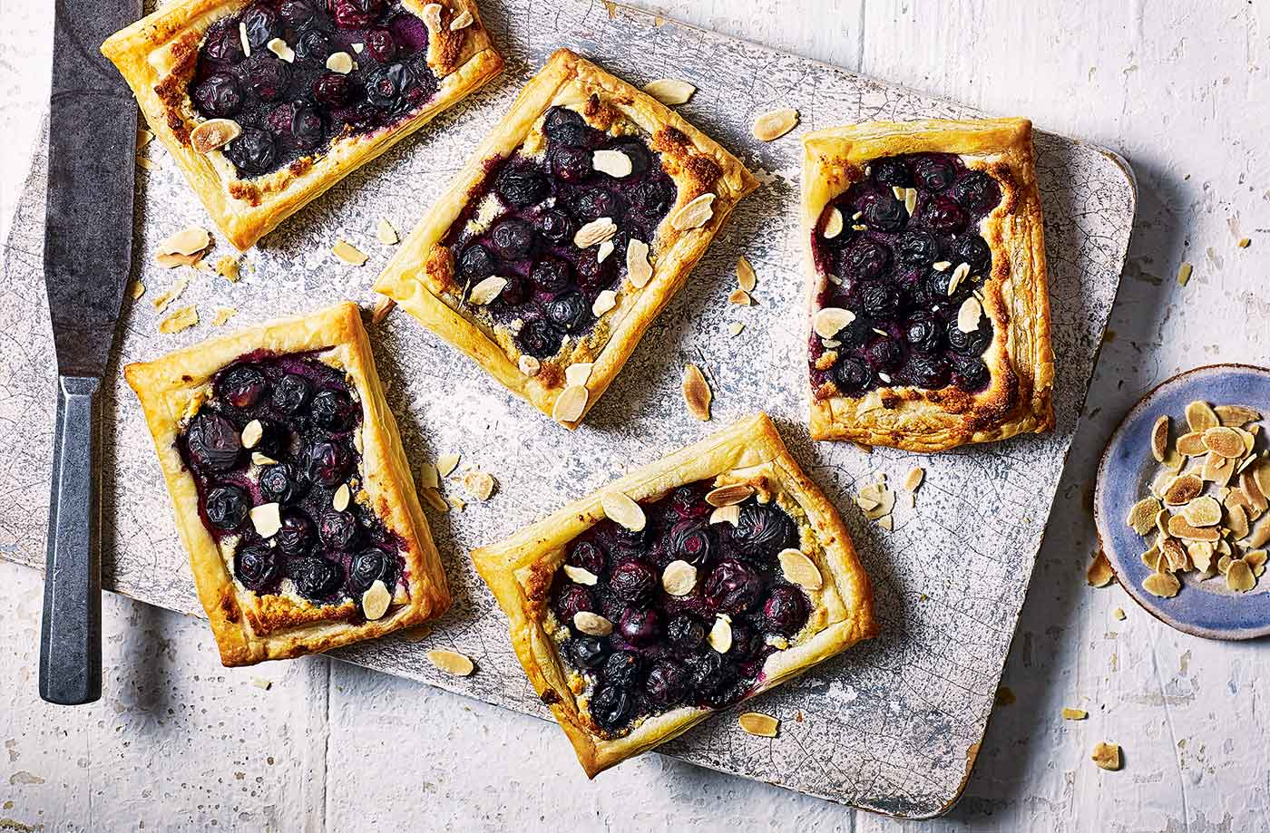 Blueberry Bakewell tarts recipe