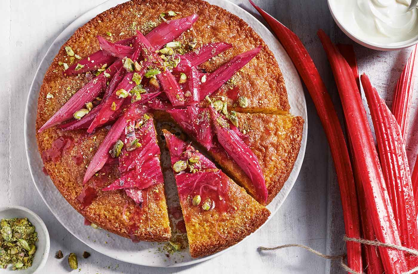 Pictures Of Rhubarb Cake