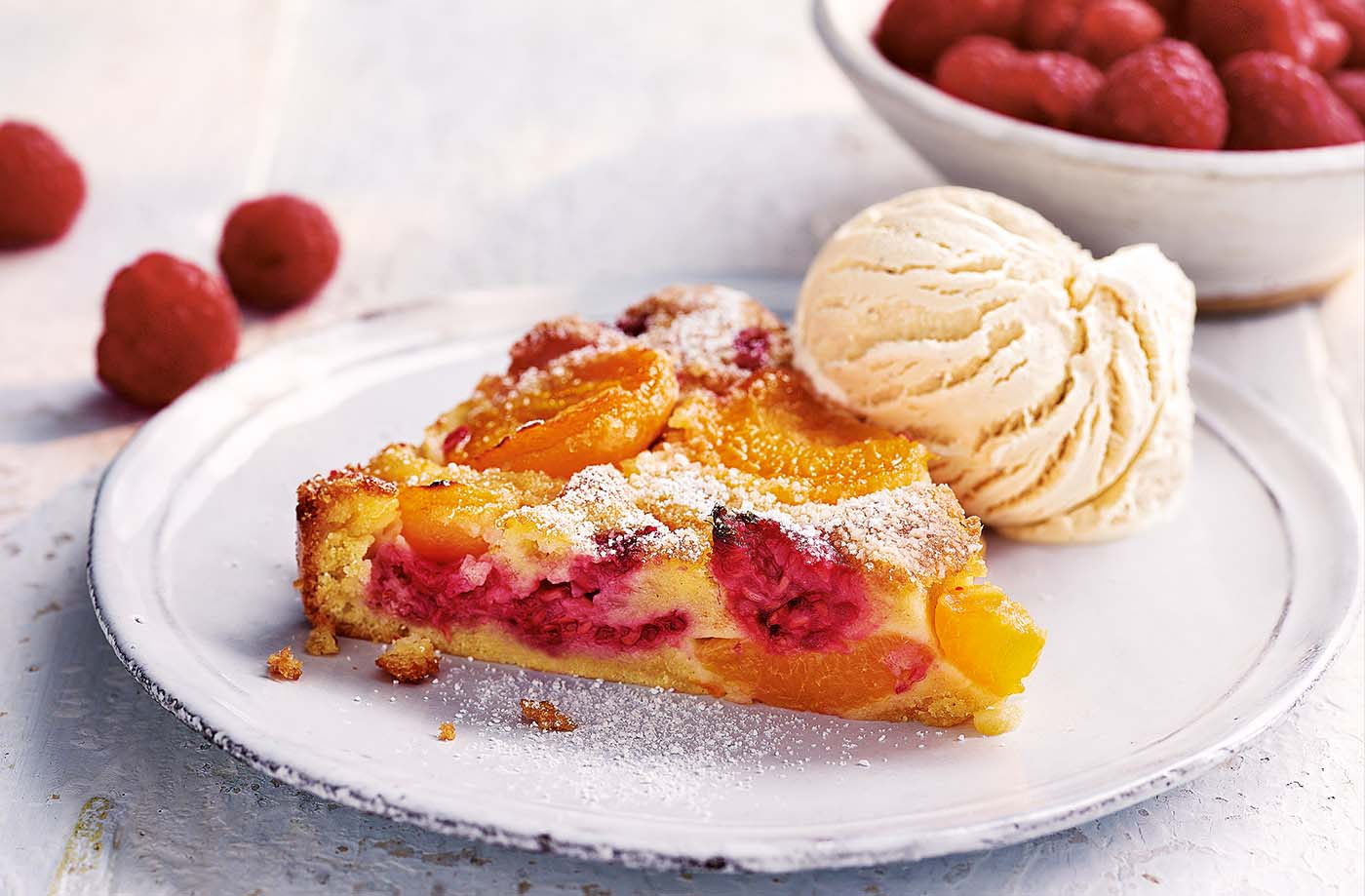 Apricot and raspberry clafoutis recipe