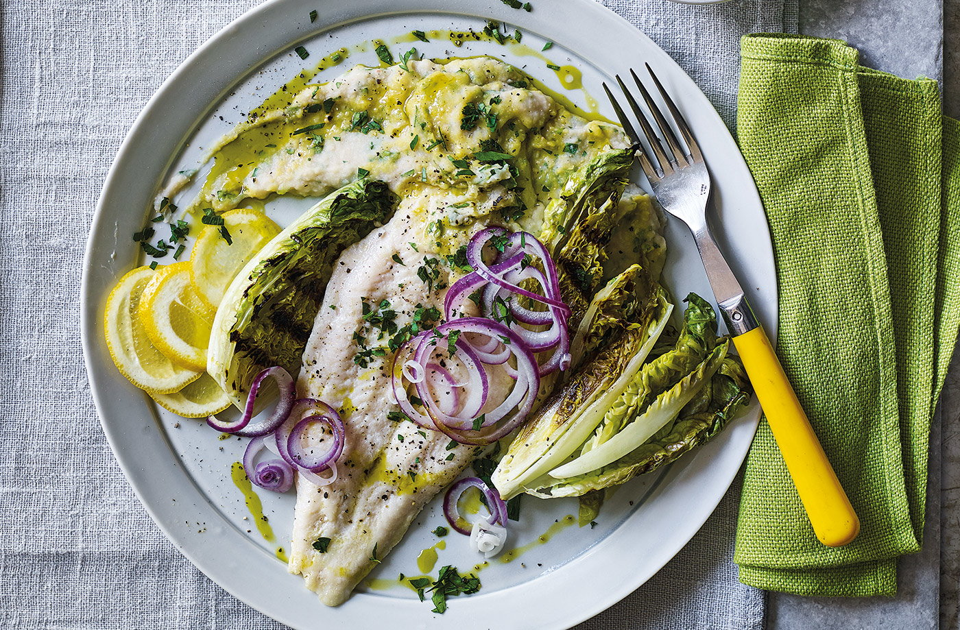 White fish with bean mash recipe