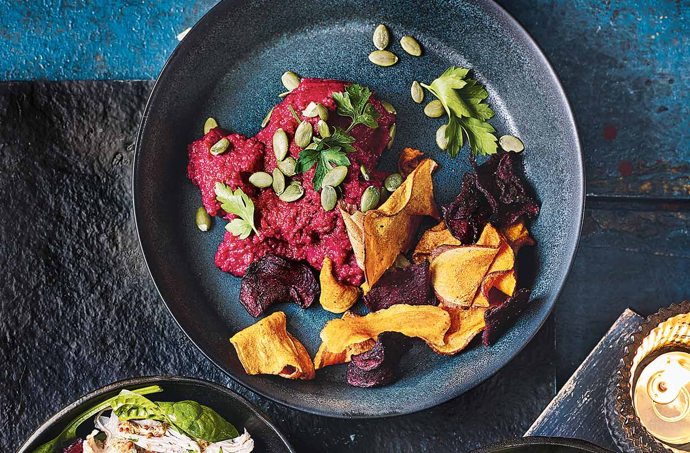 Beetroot houmous bowls recipe