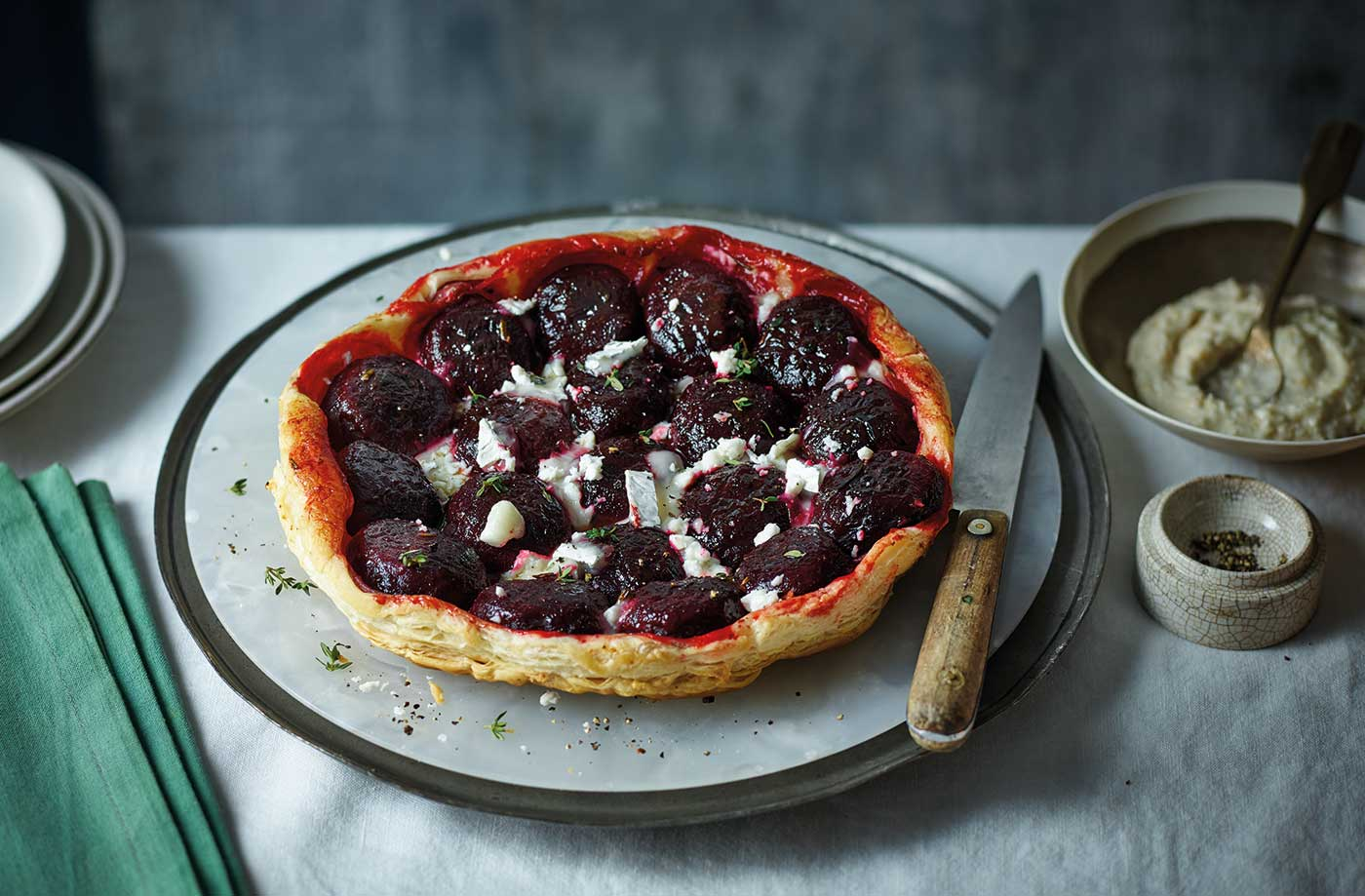 Beetroot and goat's cheese tarte tatin recipe