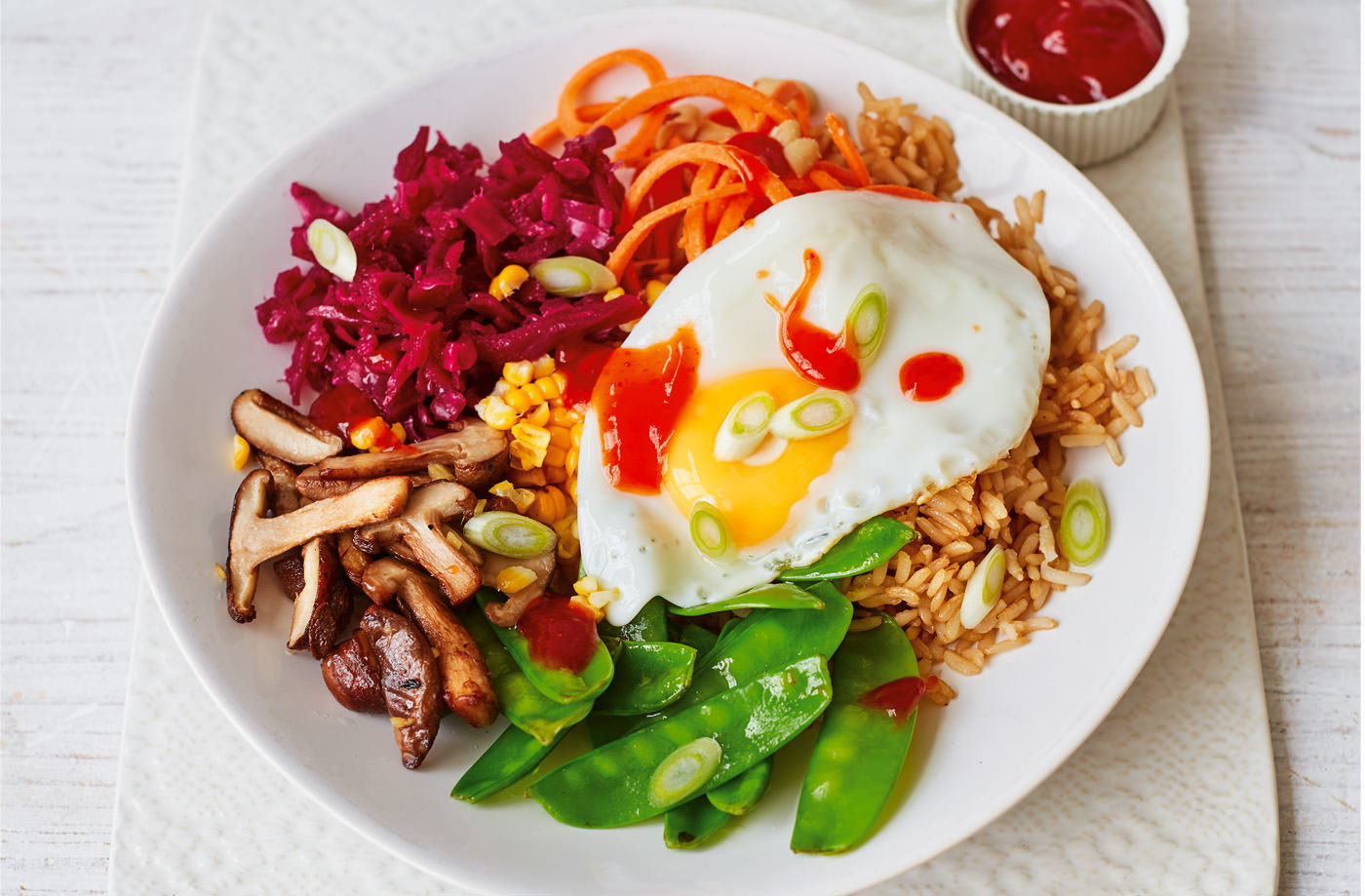 Bibimbap bowls vegetarian recipes tesco real food forumfinder Gallery