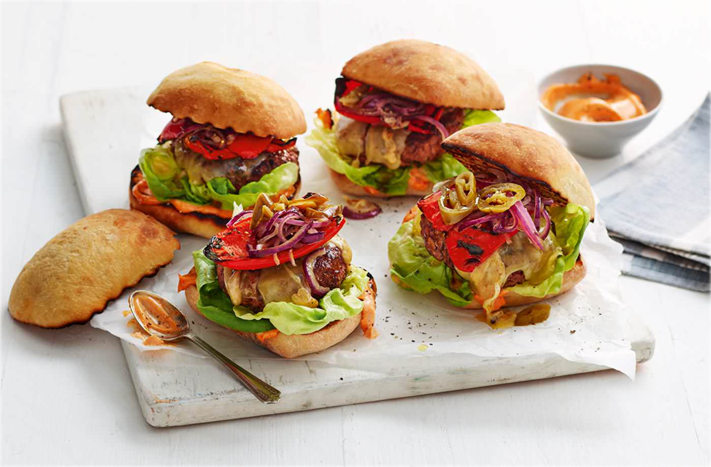 Dee's 'fingers crossed' paprika burgers recipe